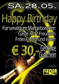 Happy Birthday - € 30,- Getränkegutschein !