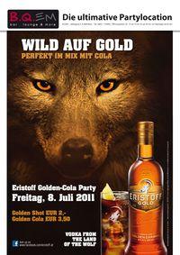 Wild auf Gold
