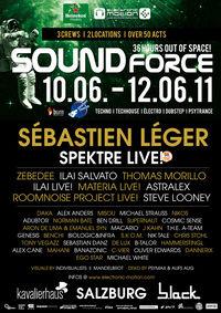 """►FR.10.06.-12.06.  """"SOUNDFORCE FESTIVAL"""" - 36hours out of space! KAVALIERHAUS + B.LACK SALZBURG!!!"""