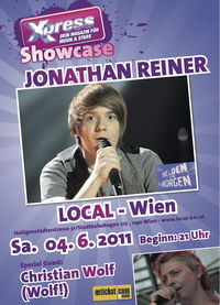 xpress presents Jonathan Reiner (Helden von Morgen), support: Christian Wolf (Wolf!)@local