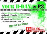 Your B-DAY im P3 für alle Juni Geburtstagskinder@Disco P3