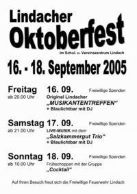 Lindacher Oktoberfest@Schul- & Vereinszentrum