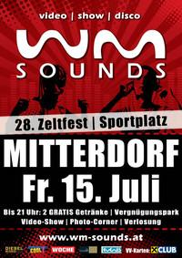 WM-Sounds | 28. Zeltfest USV Mitterdorf@Sportplatz Bad Eisenkappel