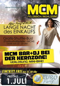 Lange Nacht des Einkaufs, After-Party!