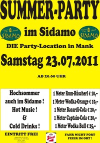 Summer-Party im Sidamo@Cafe Sidamo Mank