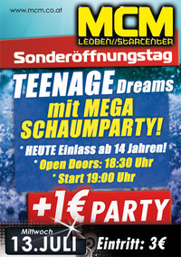 Teenage Dreams mit Schaumparty