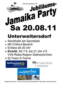 Jubiläums Jamaika Party