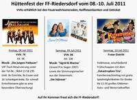 Hüttenfest der FF Riedersdorf