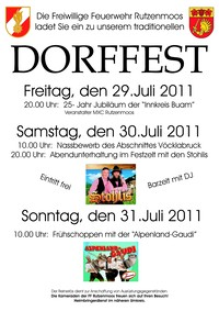 Dorffest Rutzenmoos 2011@Feuerwehrhaus
