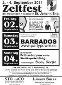 Zeltfest der FF St.Johann/Eng.