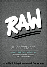 RAW14 - monthly dubstep thursdays @ Fluc Wanne