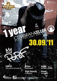 1 Jahr Club Cembrankeller mit PoPoF@Cembran