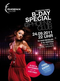 Club4you pres. Steinis, Lukis und Patricias B-DAY Special im Phoenix Club