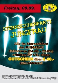 Sternzeichenparty Jungfrau@Bienenkorb Ried