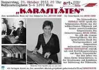 """Karasitäten - Eine musikalische Reise auf den Fußspuren des """"Dritten Mann"""" bei bilder.worte.töne @Osteria Allora"""