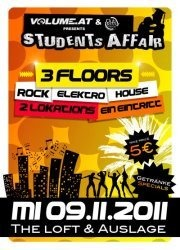 Students Affair@Club Auslage