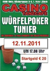 Würfelpoker Turnier@Casino Cafe Wels