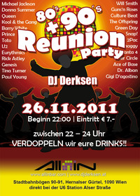 80's + 90's Reunion Party by dj derksen@All iN