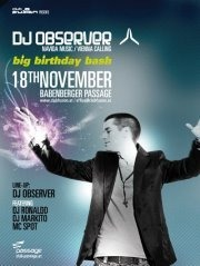 DJ Observer Birthday Bash@Babenberger Passage