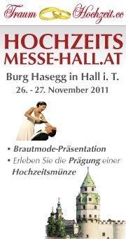Hochzeitsmesse@Burg Hasegg, Münze Hall