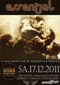 Essential X-Mas Showcase w/ Resident DJ's & Friends@SASS
