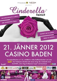 Cinderella tanzt - Die Generation 30 plus feiert wieder!@Casino Baden