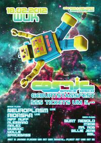 Cosmic - Geburtstag mit 555 x 5.- Eintritt !!!@WUK