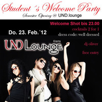 Student's Welcome Party@Und Lounge