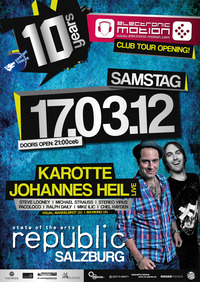 10 Jahre Electronic Motion Club Tour Opening!