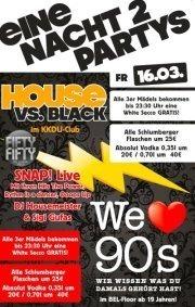 1 Nacht - 2 Partys!