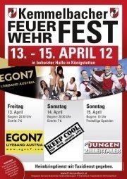 Feuerwehrfest Kemmelbach @Reithalle Königsstetten