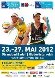 CEV Baden Masters & Satellite pres. by Sport.Land.NÖ und Autohaus Bierbaum
