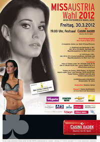 Miss Austria Wahl 2012@Casino Baden