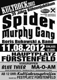 Kultrock 2012 - 35 Jahre Bühnenjubiläum Spider Murphy Gang@Hauptplatz Fürstenfeld
