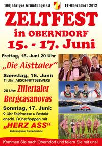 Zeltfest Oberndorf - 100-jähriges Gründungsfest FF-Oberndorf