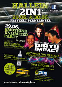 Hallein 2in1 - Emotions Unlimited Party@Festzelt Pernerinsel