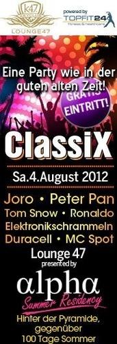 ClassiX - Eine Party wie in der guten alten Zeit@Club Alpha