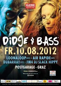 Didge & Bass mit Loonaloop, air rapide und Slack Hippy@Postgarage