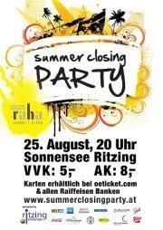 Summer Closing Party