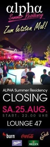 Closing Alpha Club Summer Resicency@Club Alpha