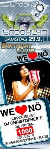 Birthday Club & We Love NÖ@Brooklyn