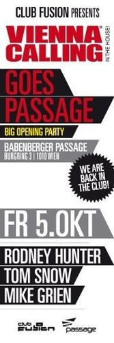 Club Fusion pres. Vienna Calling in the House@Babenberger Passage