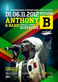 Anthony B & Band Freedom Fighter Tour@Reigen