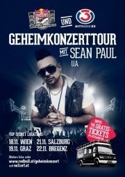 Red Bull Brandwagen & Ö3 auf Geheimkonzerttour mit Sean Paul@top secret