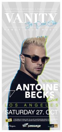 Vanity - The Posh Club pres. Antoine Becks (usa) Live!