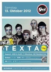 Texta Live@GEI Musikclub