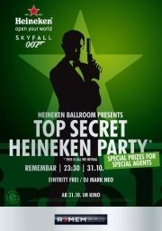Heineken - Top Secret Party - James Bond -skyfall 007