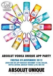 Absolut Vodka Unique App Party!@Disco Bel