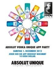 Absolut Vodka Unique App Party!