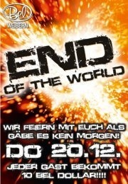 End of the World Party@Disco Bel